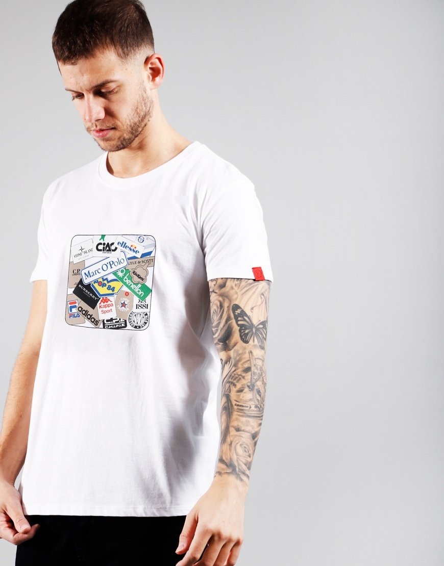 Eighties Casuals Labels T-shirt White