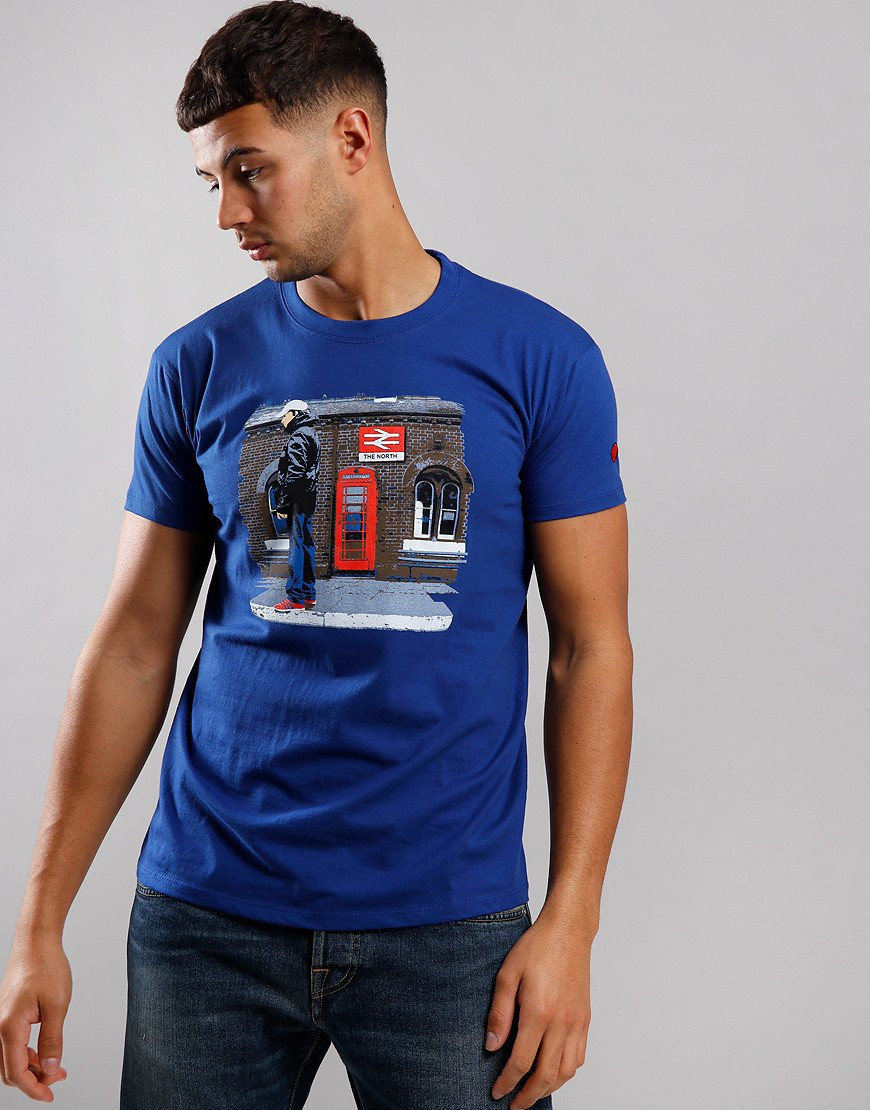 Eighties Casuals North Station T-Shirt Blue