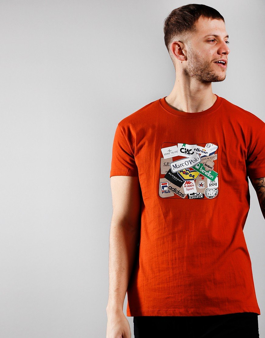 Eighties Casuals Labels T-Shirt Orange