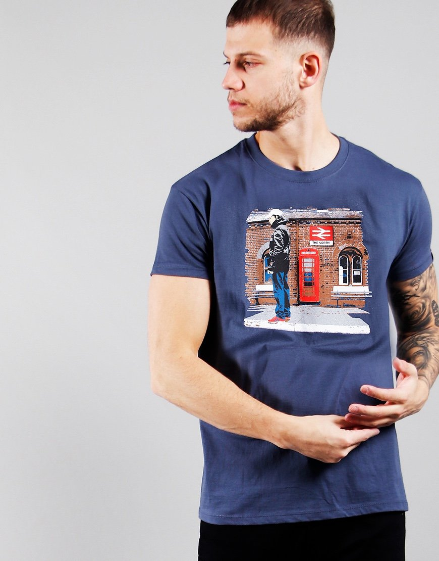 Eighties Casuals North Station T-Shirt Petrol