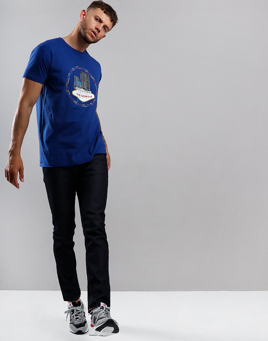 Eighties Casuals Vegas of the North T-Shirt Blue