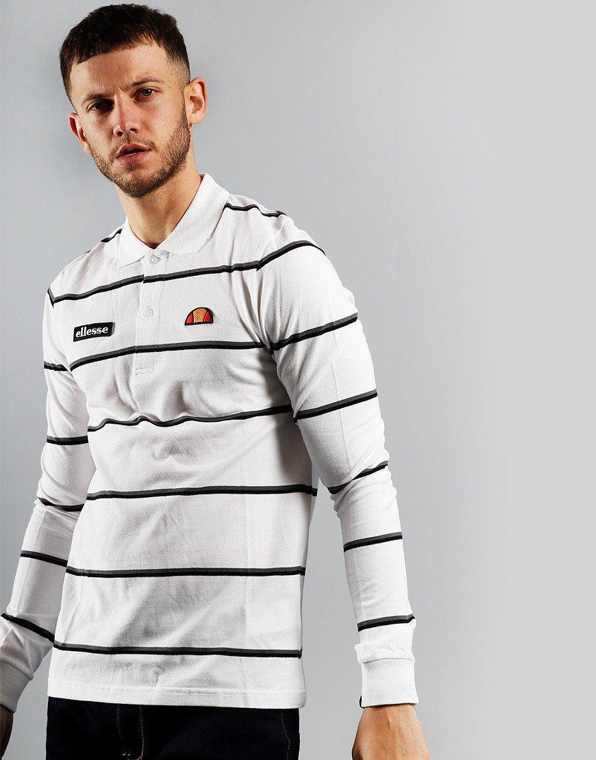 Ellesse Maffio Long Sleeve Polo Shirt White