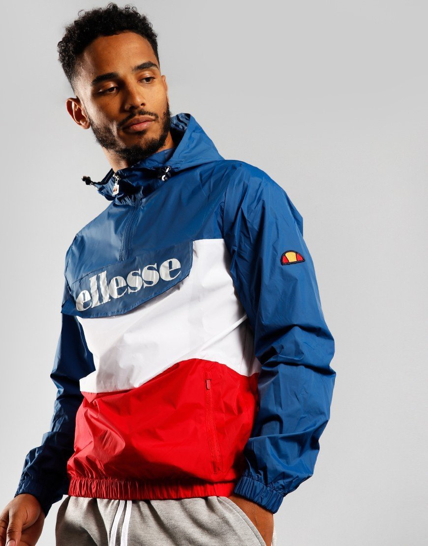 Ellesse Domani 1/2 Zip Jacket Blue/Red