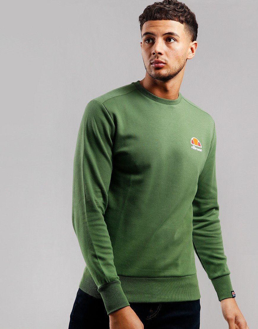 Ellesse Anguilla Crew Sweat Dark Green