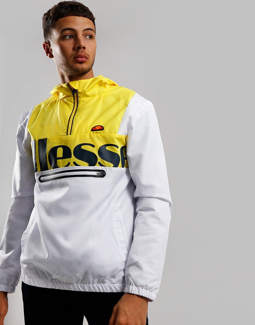 Ellesse Bandita Overhead Jacket White/Yellow