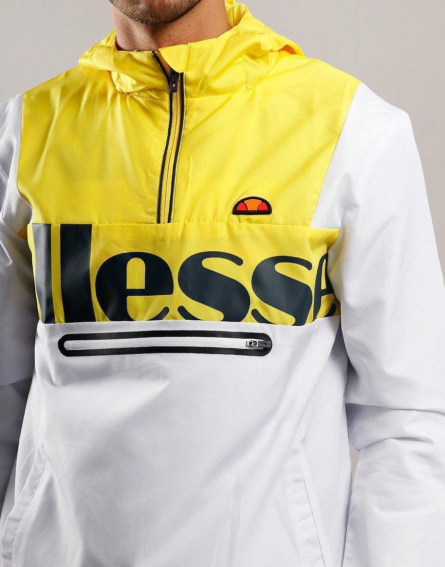 Ellesse Bandita Overhead Jacket White/Yellow
