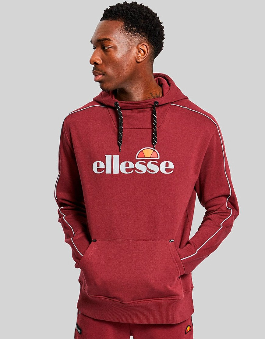 Ellesse Barreti Hooded Sweat Burgundy