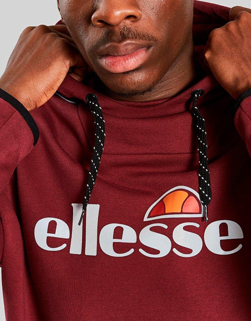 Ellesse Barreti Hooded Sweat Burgundy