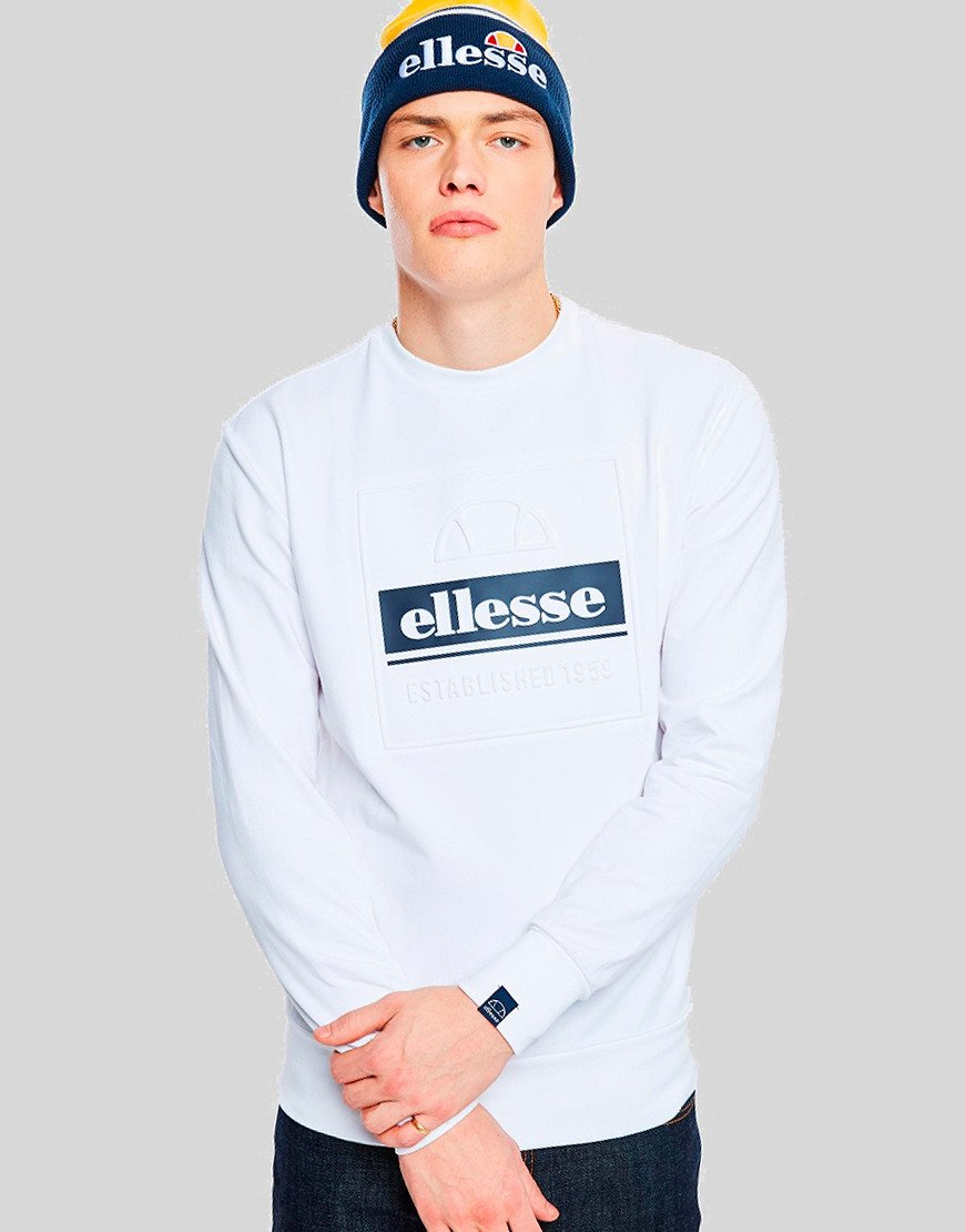 Ellesse Catria Crew Neck Sweat White
