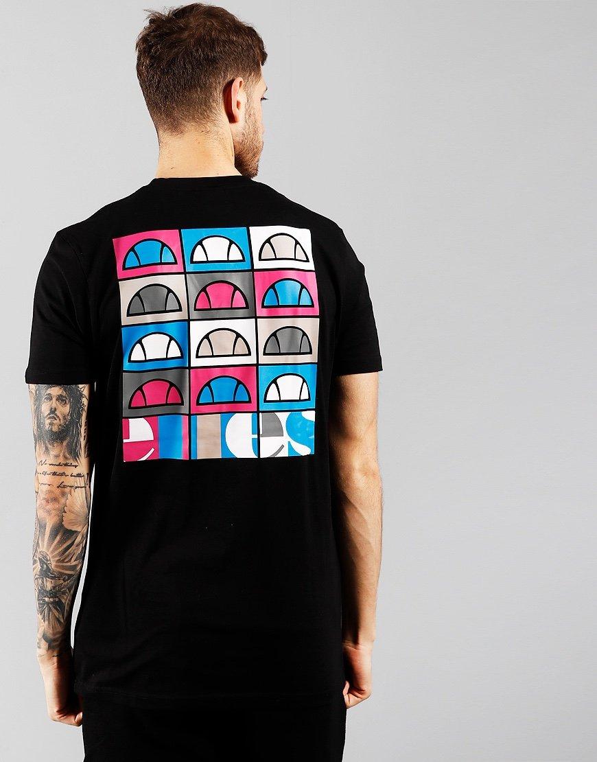 Ellesse Fondato Back Print T-shirt Black