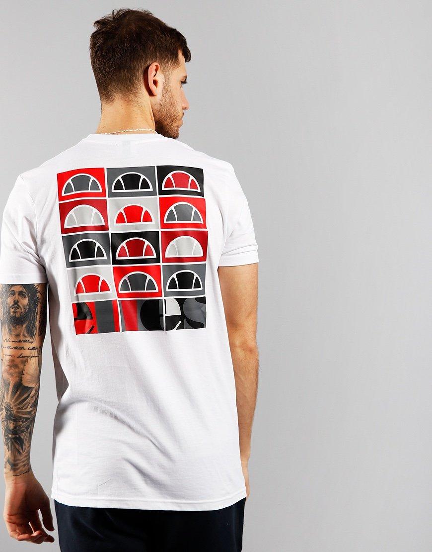 Ellesse Fondato Back Print T-shirt White