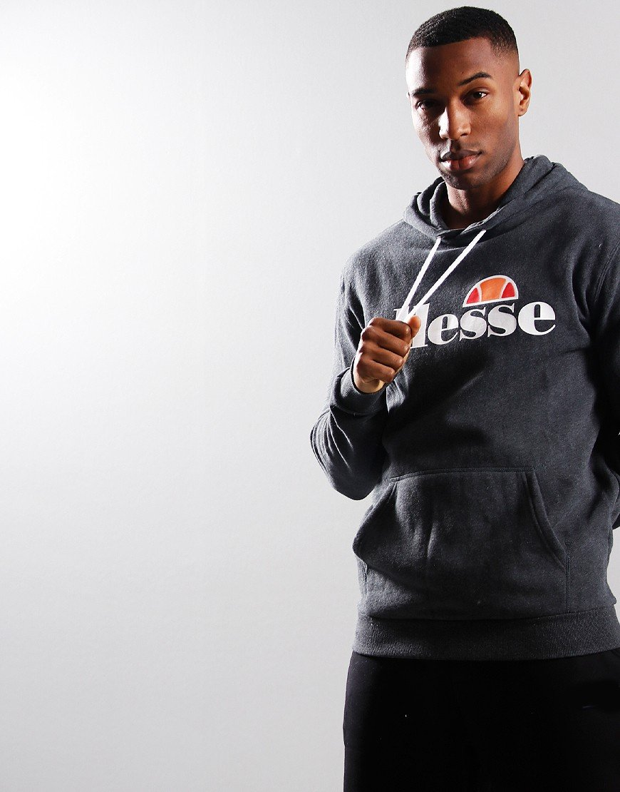 Ellesse Gottero Hooded Sweat Dark Grey Marl