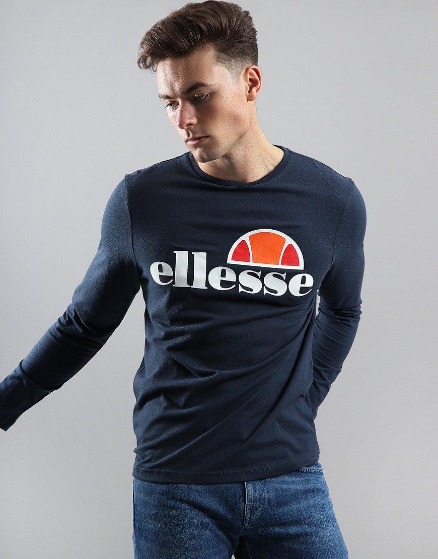Ellesse Grazie Long Sleeve T-Shirt Navy