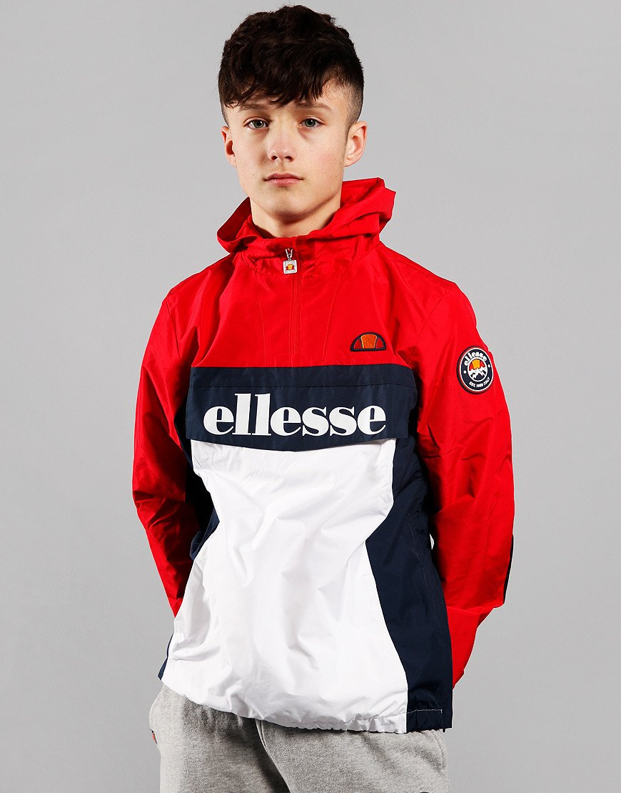Ellesse Kids Garnios 1/4 Zip Jacket Red