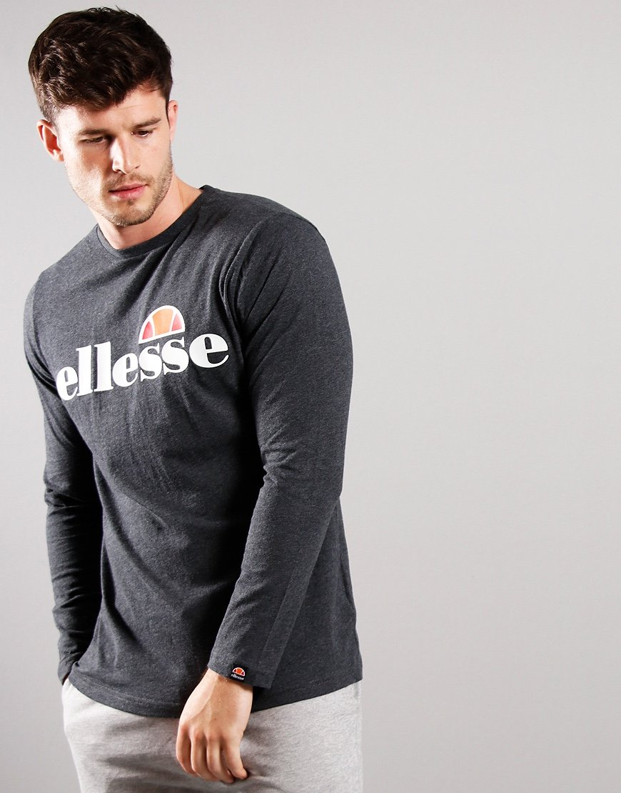 Ellesse Grazie Long Sleeve T-Shirt Dark Grey Marl