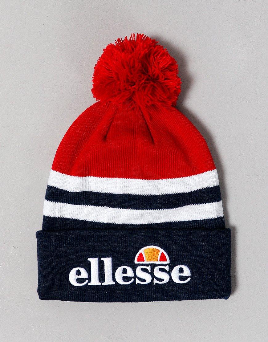 Ellesse Meddon Pom Knitted Hat Red/Navy