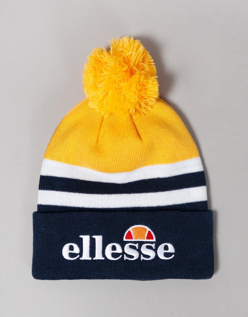 Ellesse Meddon Pom Knitted Hat Yellow/Navy