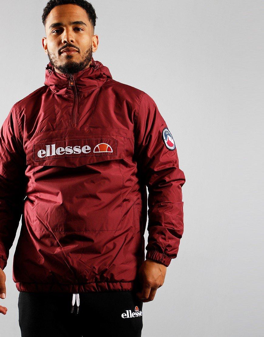 Ellesse Monterini Overhead Jacket Burgundy