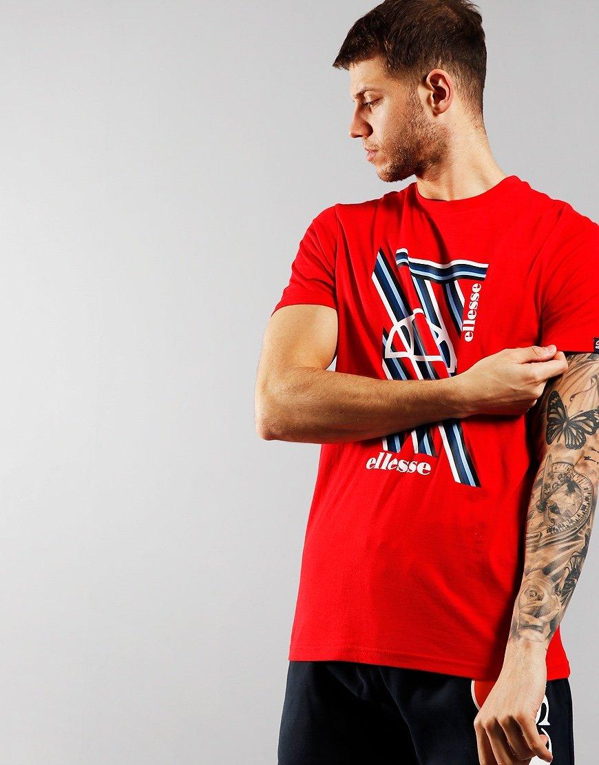 Ellesse Marotta Print T-shirt Red