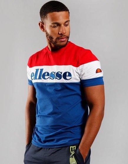 Ellesse Punto T-Shirt Blue/Red