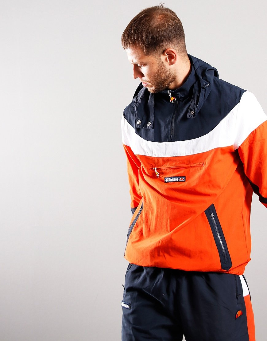 Ellesse Romelo Half Zip Jacket Orange
