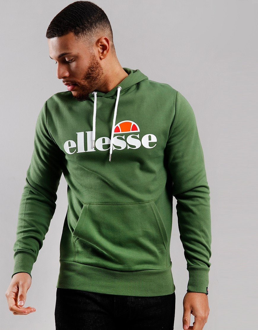 Ellesse Runaway Hooded Sweat Dark Green