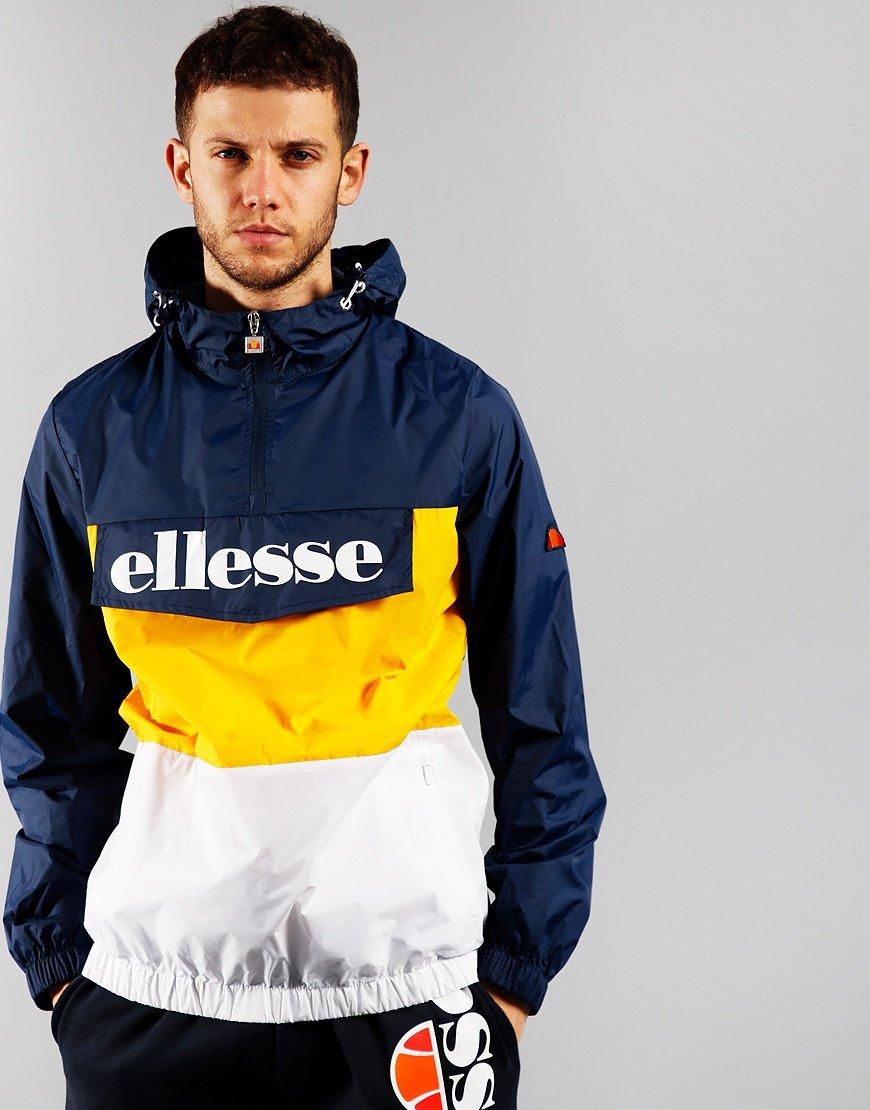 Ellesse Domani 1/2 Zip Jacket Navy Yellow