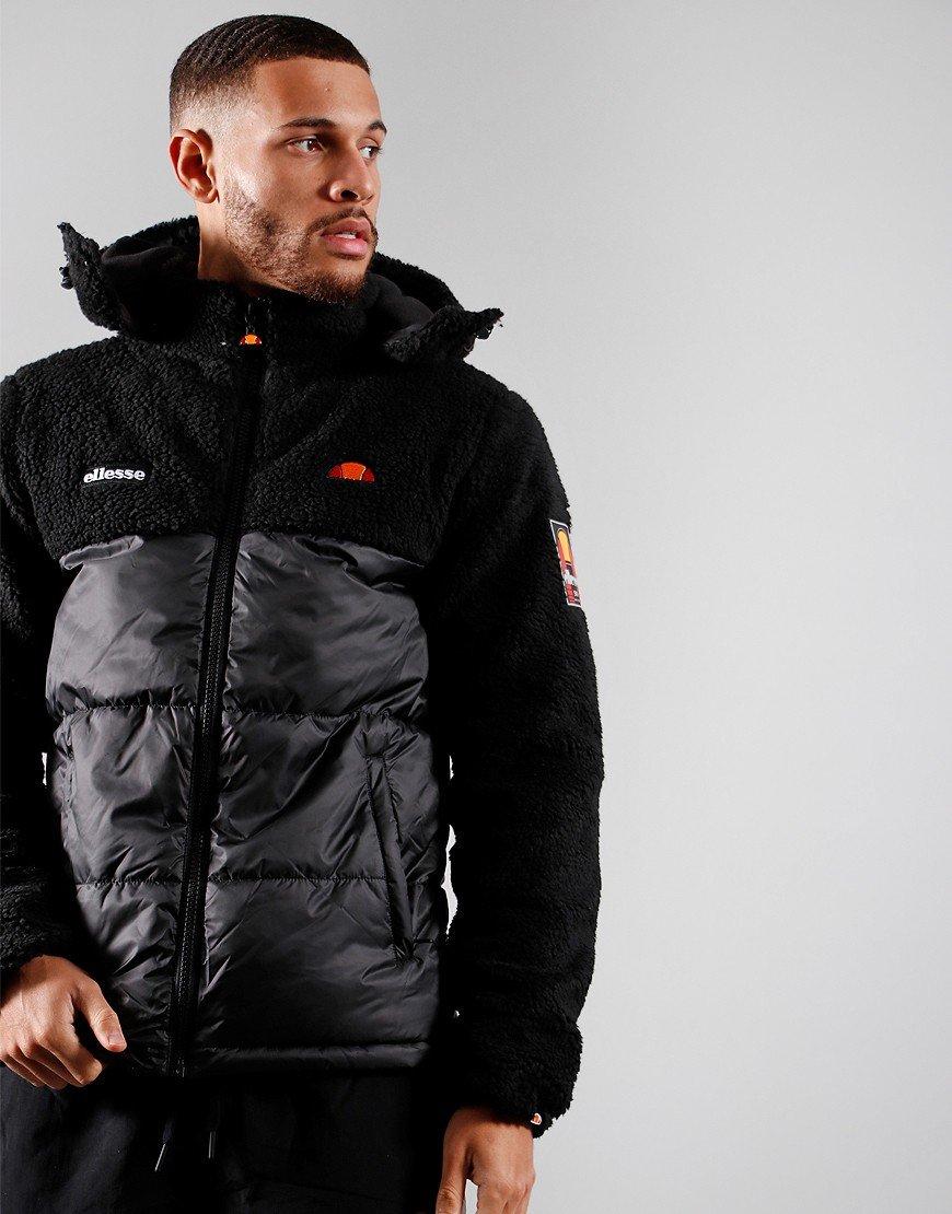 Ellesse Sparra Padded Sherpa Jacket Black