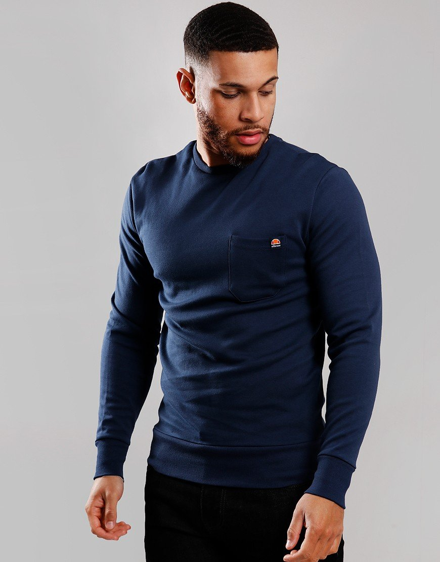 Ellesse Thenor Crew Sweat Navy