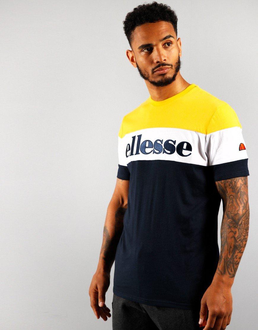 Ellesse Punto T-Shirt Navy/Yellow