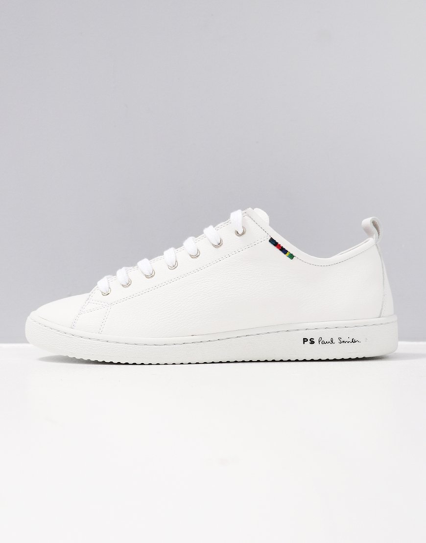 Paul Smith Calf Leather Miyata Trainers White