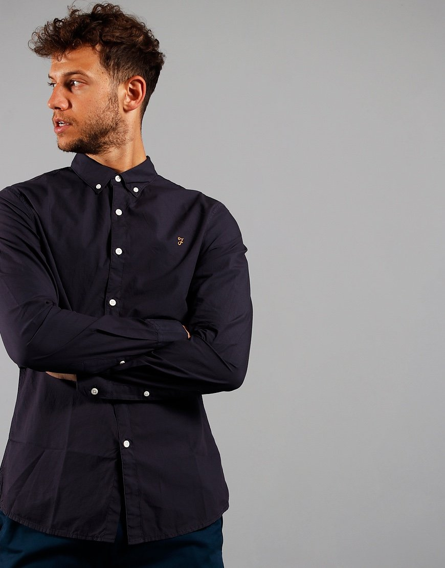 Farah Long Sleeve Farley Shirt Navy
