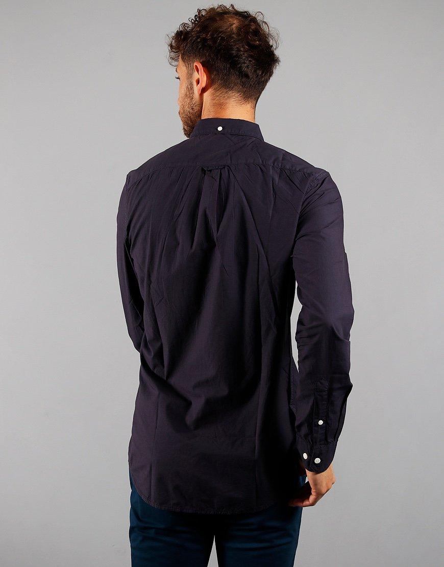 Farah Long Sleeve Farley Shirt Navy
