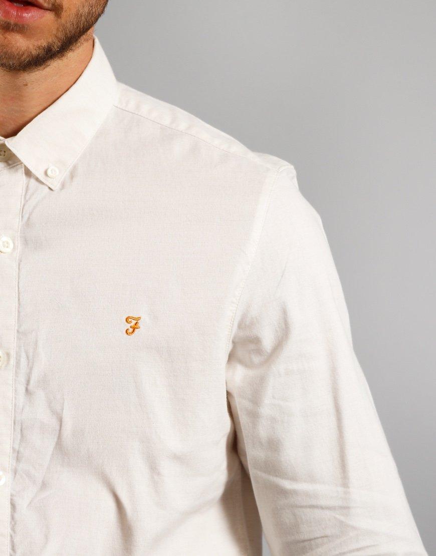Farah Long Sleeve Steen Shirt Ecru
