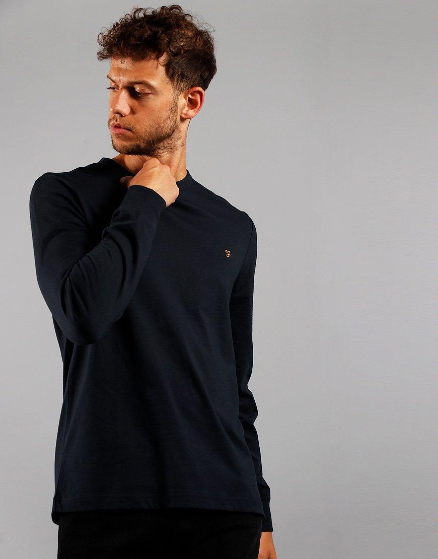 Farah Long Sleeve Worth T-Shirt True Navy