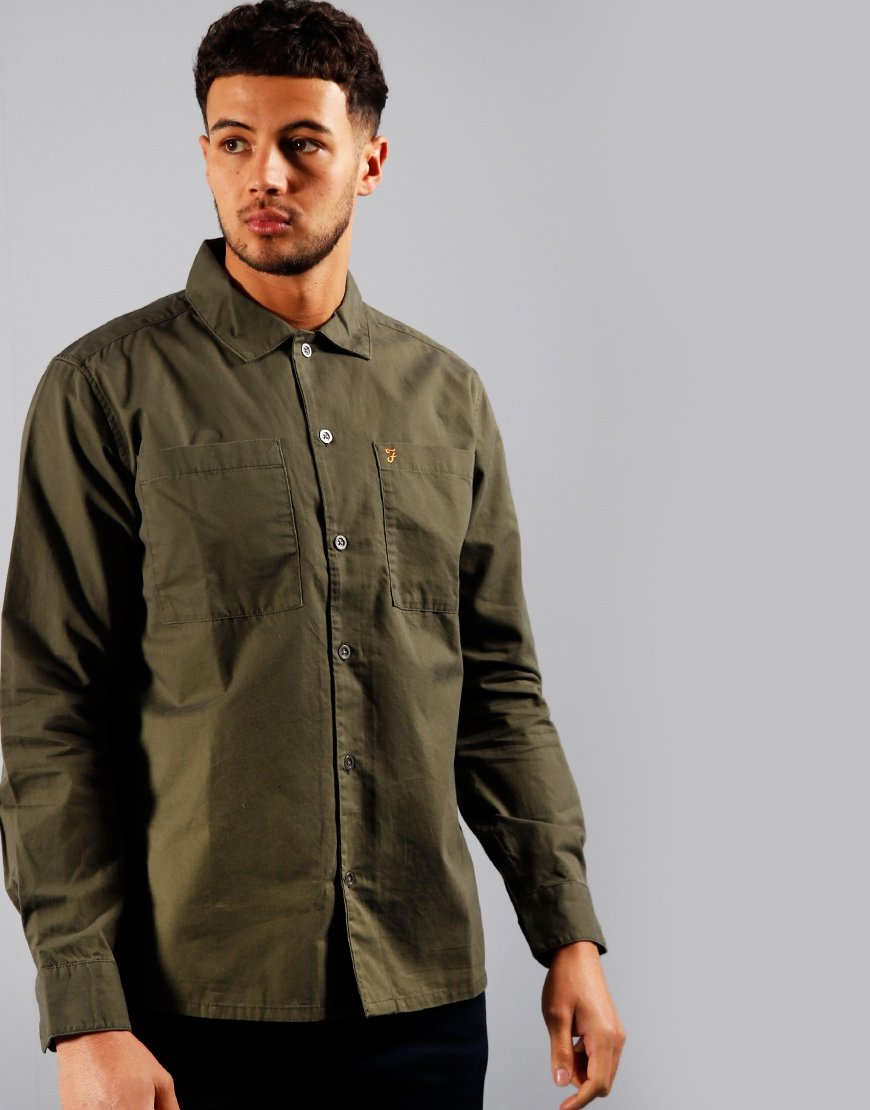 Farah Dallam Overshirt Farah Green