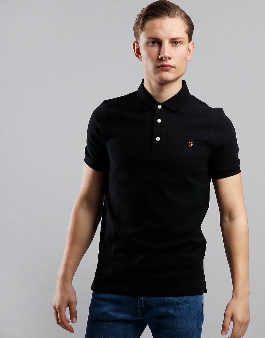 Farah Blanes Polo Shirt Deep Black