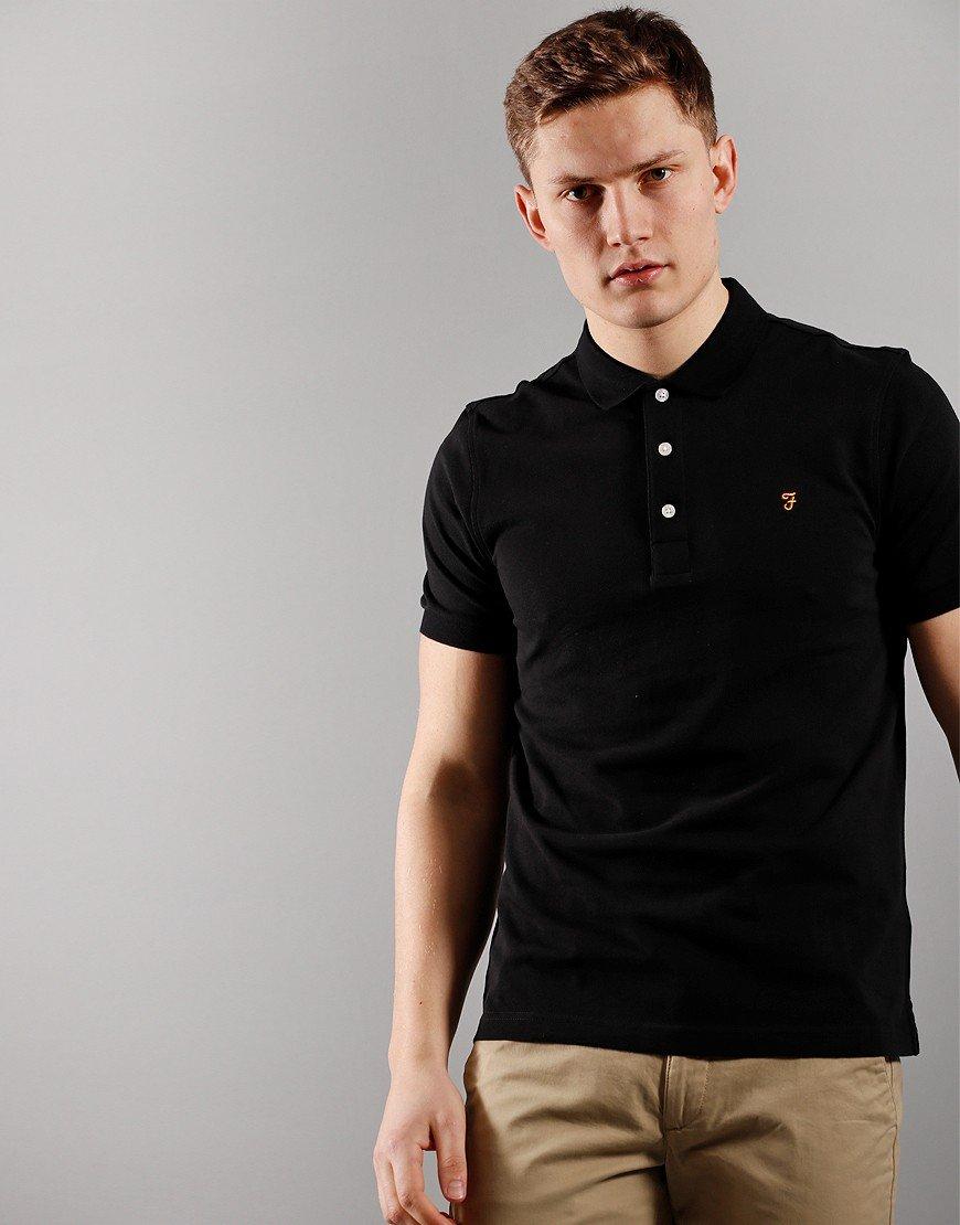 Farah Blanes Polo Shirt Black