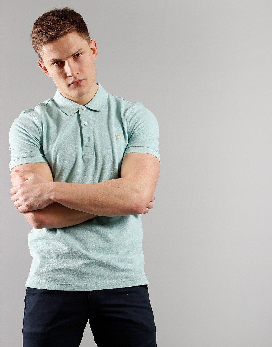 Farah Blanes Polo Shirt Green Crest Marl
