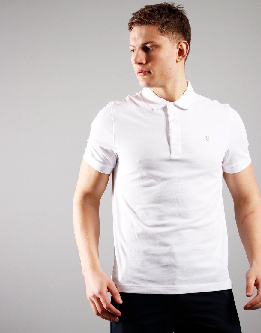Farah Blanes Polo Shirt White