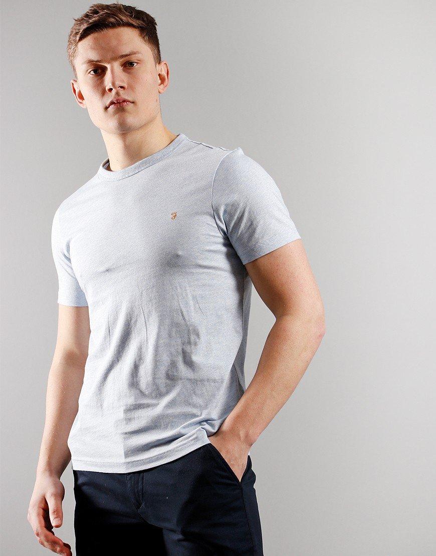 Farah Danny Short Sleeve T-Shirt Blue Nickle Marl