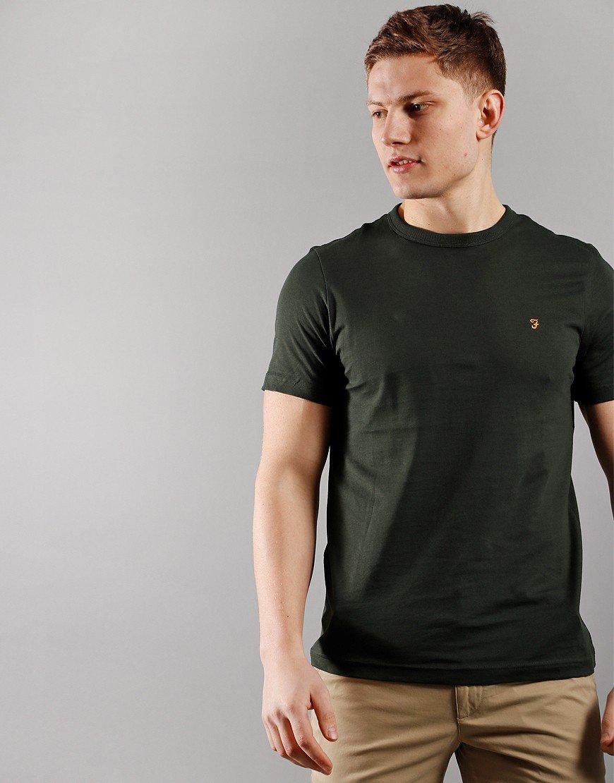 Farah Danny Short Sleeve T-Shirt Evergreen