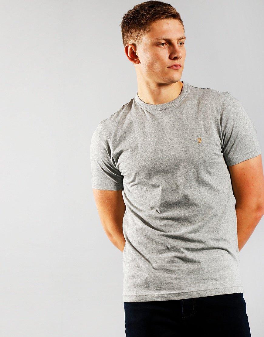 Farah Danny Short Sleeve T-Shirt Rain Heather