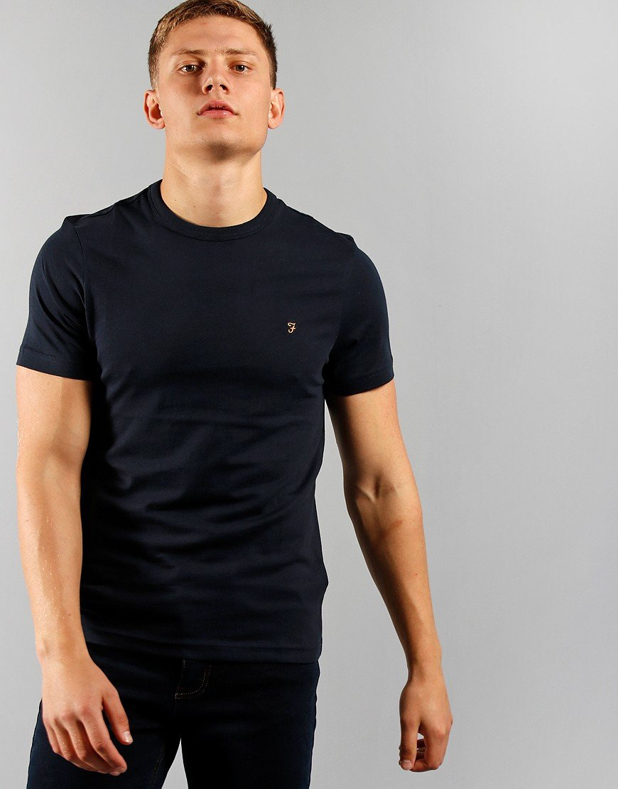 Farah Danny Short Sleeve T-Shirt True Navy