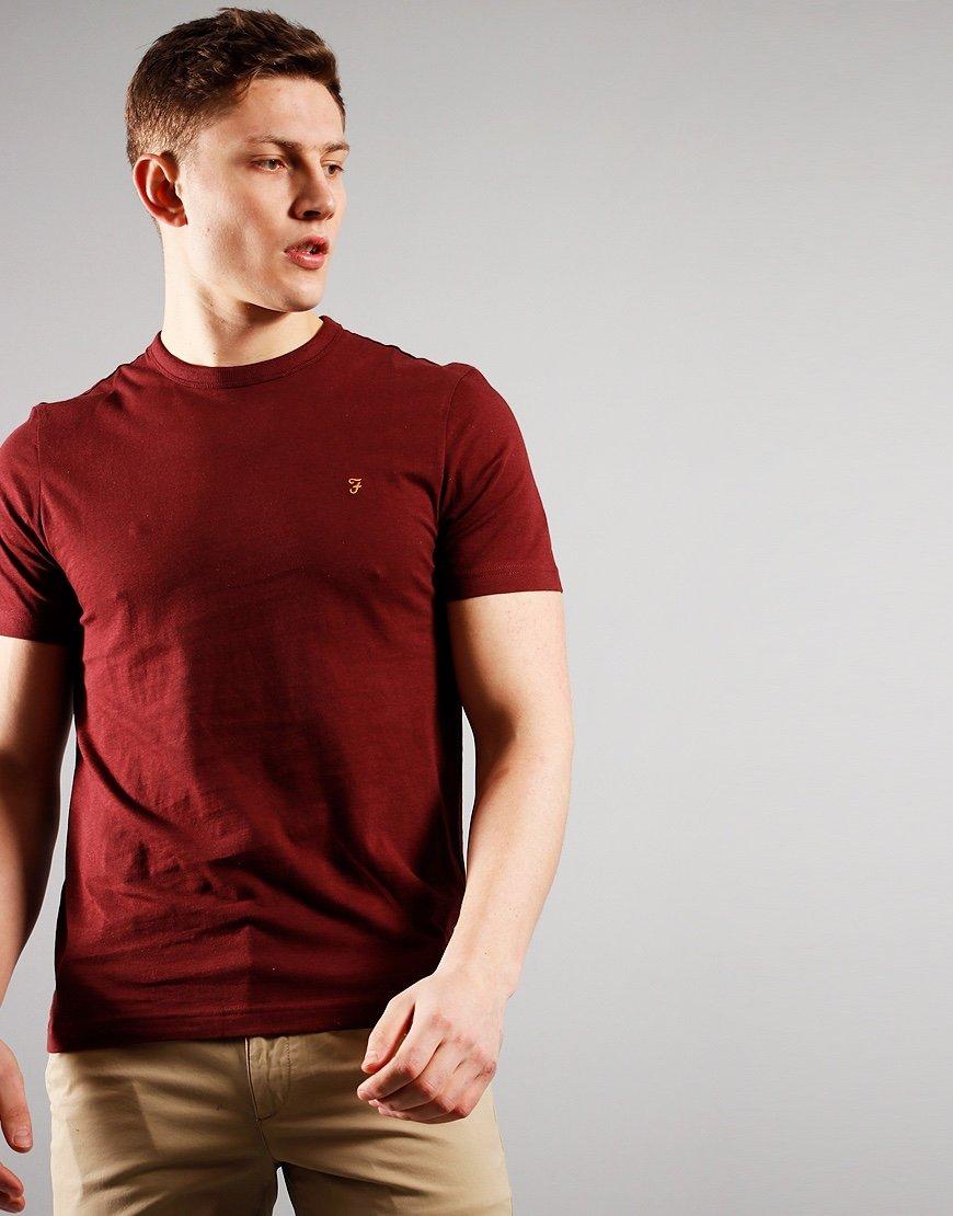 Farah Danny Short Sleeve T-Shirt Farah Red Marl