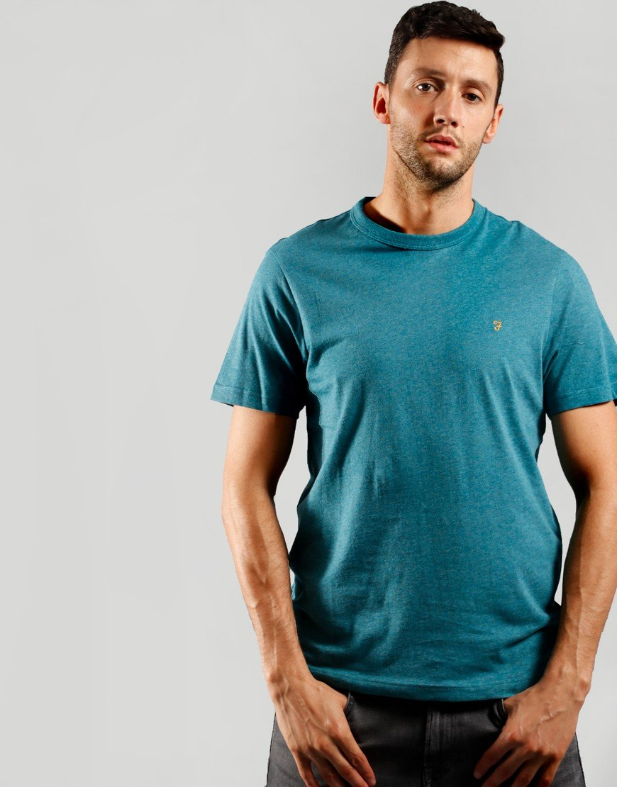 Farah Danny Short Sleeve T-Shirt Rich Turquoise