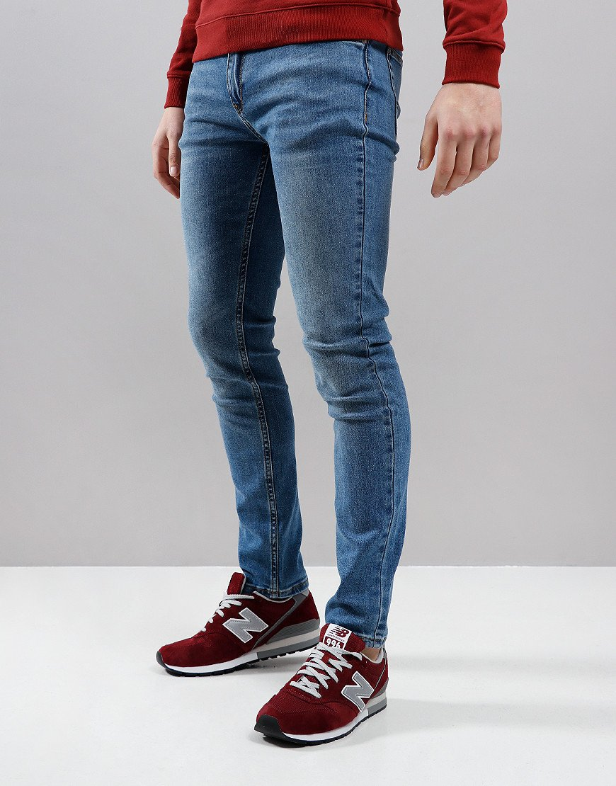 Farah Drake Skinny Fit Soft Stretch Jeans Worn Indigo