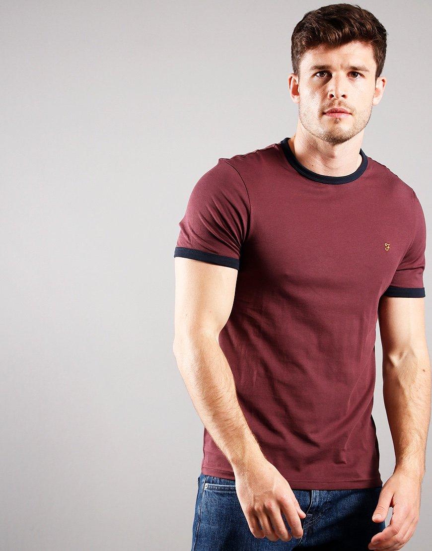 Farah Groves Ringer T-Shirt Farah Red