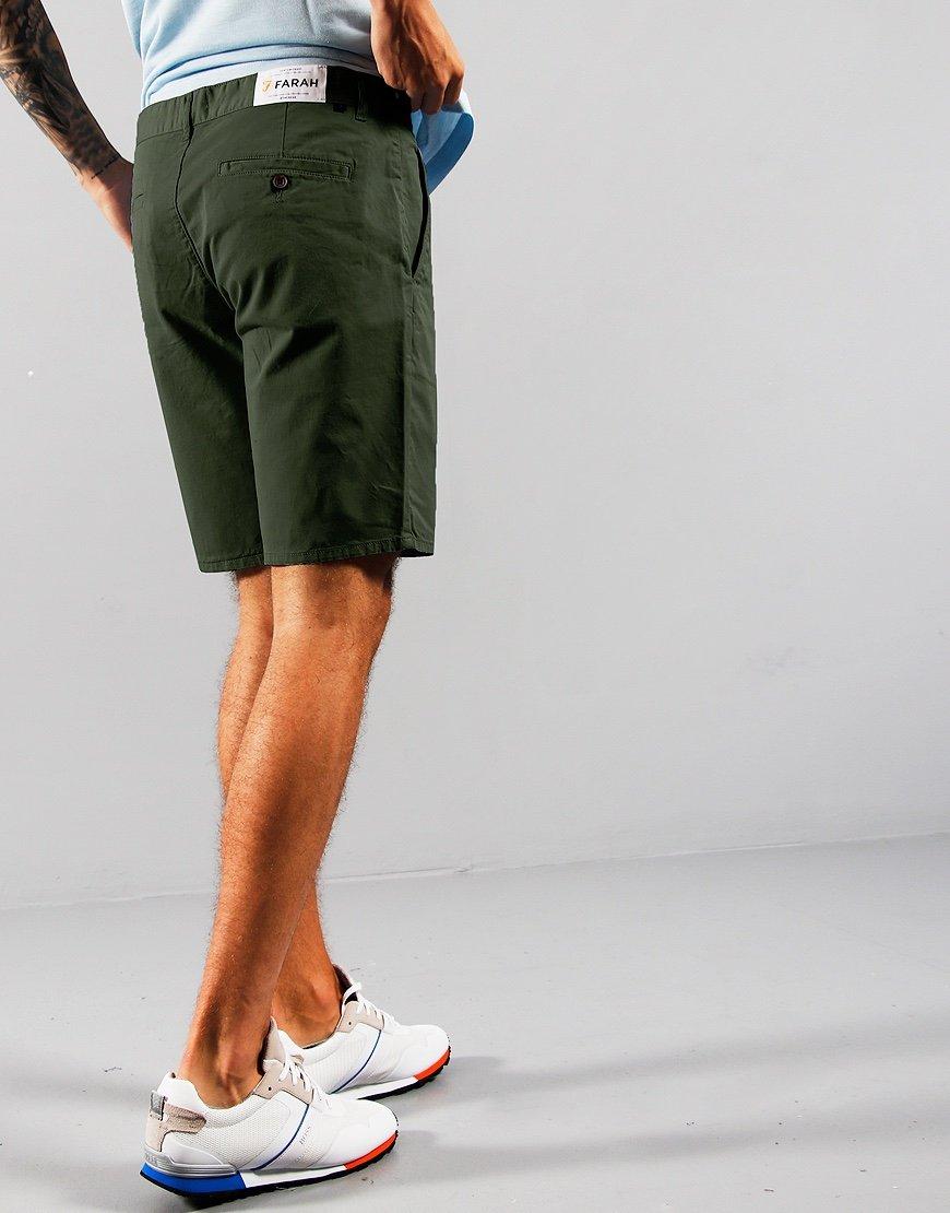 Farah Hawk Chino Shorts Farah Green