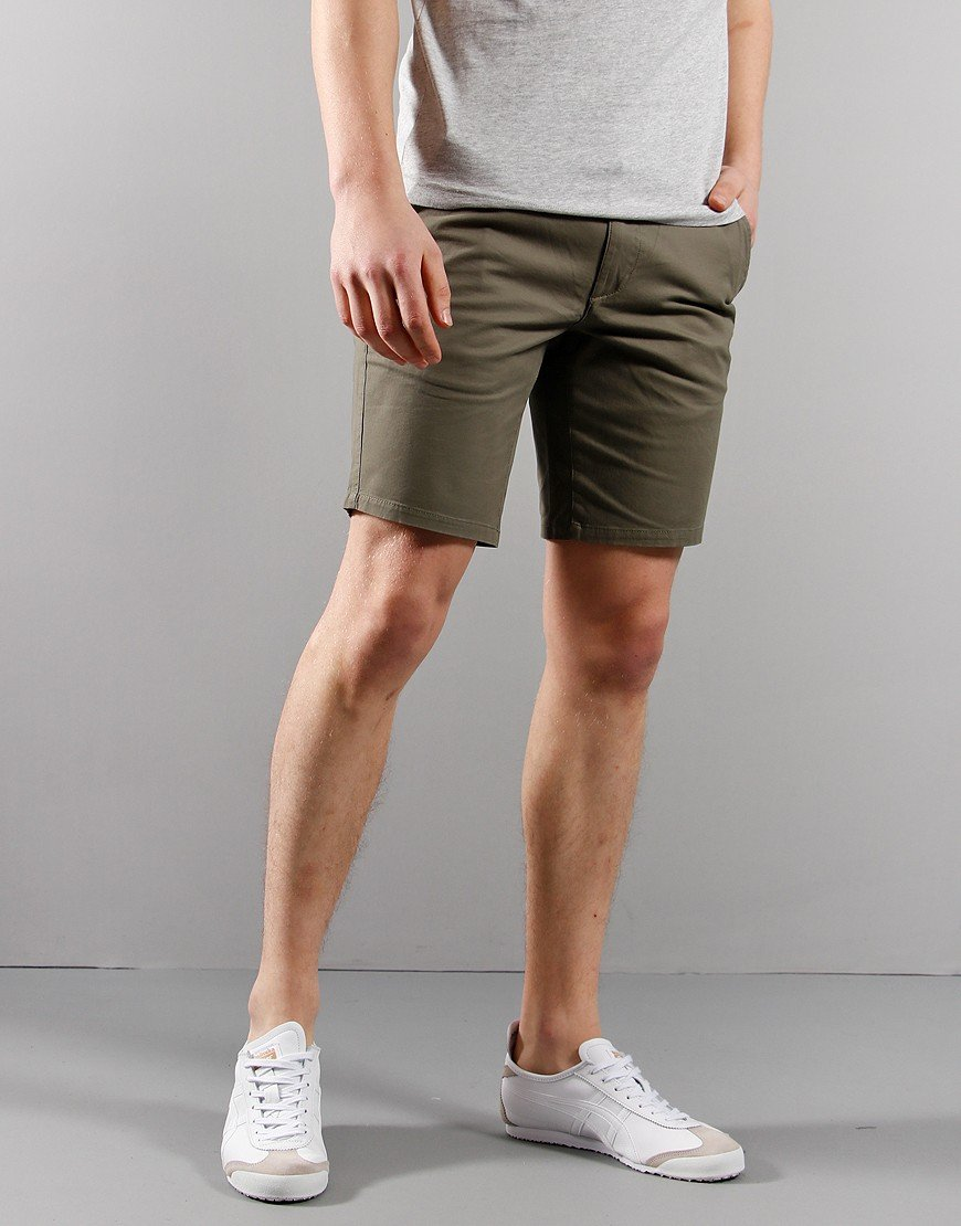 Farah Hawk Chino Shorts Vintage Green
